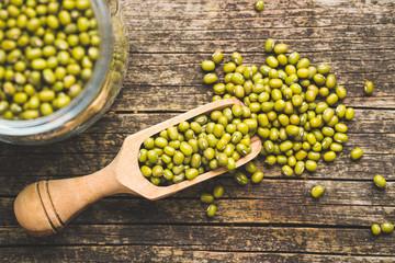 Green mung beans. Wall mural