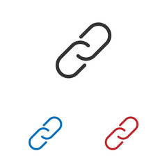 Chain Link icon isolated on white background. Chain Link icon in trendy design style. Chain Link vector icon modern and simple flat symbol for web site, mobile app, UI.