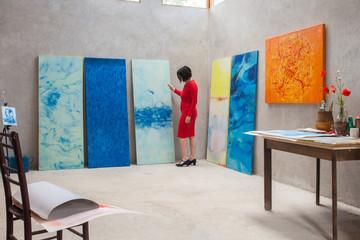 Side shot in an artist studio