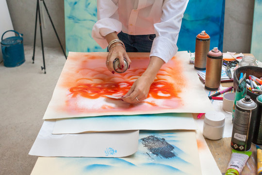 Moment in an artist studio