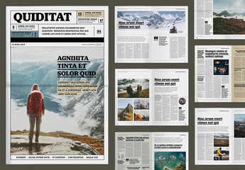 Outdoor and Travel Magazine Layout