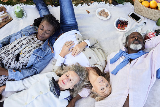 Age is beauty. Picnic lifestyle. Relax.