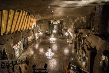 Wieliczka Salt Mines salt church cathedral Fotomurales