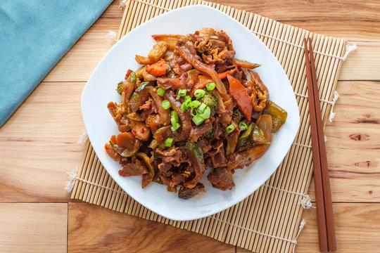 Mongolian BBQ Beef Vegetables