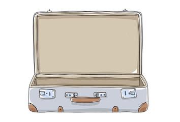 Fototapeta empty Suitcase vintagehand drawn art vector illustration obraz