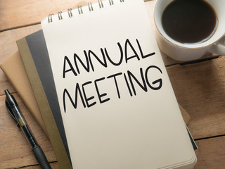 Annual Meeting, Motivational Business Words Quotes Concept