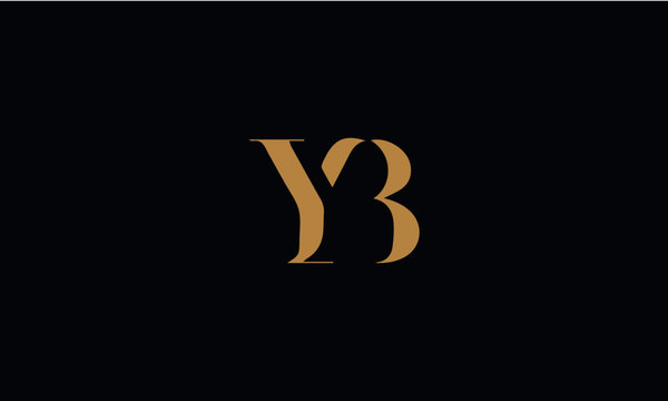 YB logo design template vector illustration