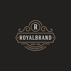 Luxury Logo template flourishes calligraphic elegant - Vector
