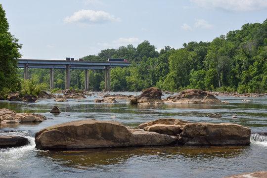 The Rappahannock River near Fredericksburg, Virginia