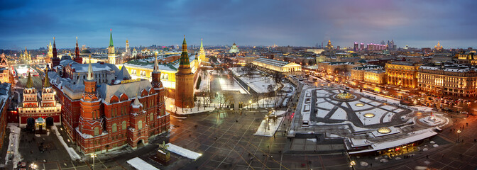 panorama of the center of Moscow