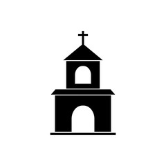 Christian Church vector icon religion concept for graphic design, logo, web site, social media, mobile app, ui illustration