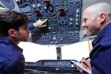 examination of the cockpit