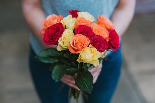 Download the perfect romantic rose pictures. Find over 100+ of the best free romantic rose images. Free for ... assorted flowers on gray metal bucket