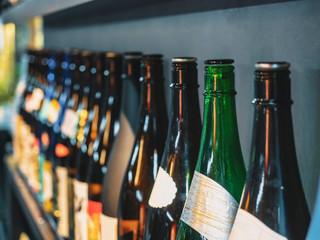 Canvas Prints Bar Sake bottles Japanese Alcohol drink Bar background