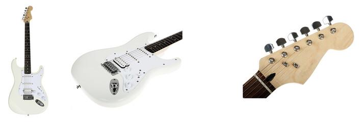 electro guitar on white background