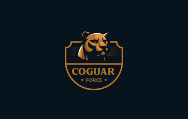 The image of a coguar or panter.
