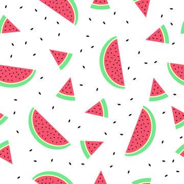 Watermelon Seamless pattern background texture