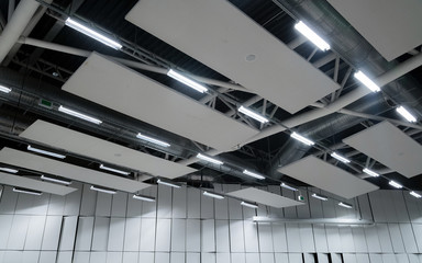 Factory building or warehouse building. Vast empty space with ve