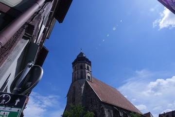 mittelalterliche Fachwerkstadt Hannoversch Münden mit Eisenbart