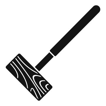Croquet mallet icon. Simple illustration of croquet mallet vector icon for web design isolated on white background