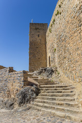 Fotomurales - Steps leading to the tower of the castle in Alcaudete, Spain