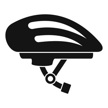 Bike helmet icon. Simple illustration of bike helmet vector icon for web design isolated on white background