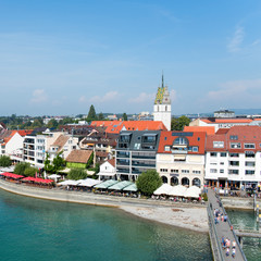 Bodensee, Friedrichshafen, von oben (Deutschland)
