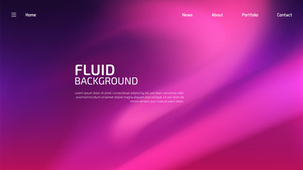 Trendy summer fluid gradient background, colorful abstract liquid 3d shapes. Futuristic design wallpaper for banner, poster, cover, flyer, presentation, advertising, landing page Wall mural