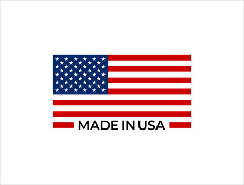 Made in USA vector sign.