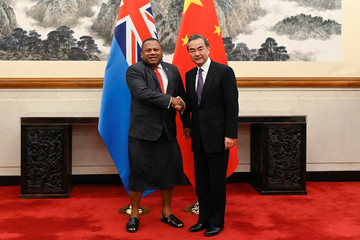 Fiji's Foreign Minister Inia Seruiratu meets his Chinese counterpart