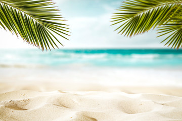 Summer background of beach and free space for your decoration.