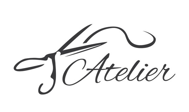 vector logo for a sewing workshop, tailor