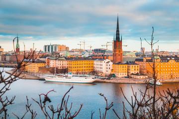 Stockholm skyline at sunrise, Sweden, Scandinavia