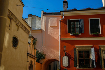 one of the colorful squre in Lviv, Ukraine
