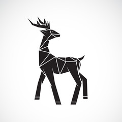 Vector of deer design on white background. Wild Animals. Deer logo or icon. Easy editable layered vector illustration.