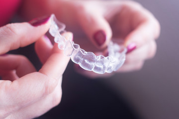 Clear dental teeth retainers