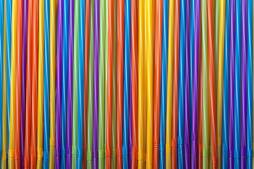 Wall Mural - background of colorful cocktail tubes, straw for drinks, concept accessories to celebrate your party