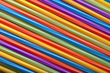 Wall Mural - colored cocktail tubes background image, concept accessories to celebrate your party
