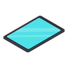 Modern tablet icon. Isometric of modern tablet vector icon for web design isolated on white background