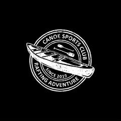 vintage badges of canoe  labels, emblems and logo