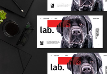 Flyer Layout with Dog Image
