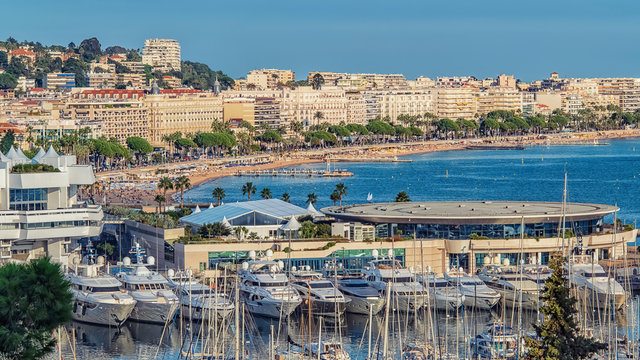 City of Cannes in summer on the French Riviera