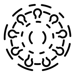 Rotavirus icon. Outline rotavirus vector icon for web design isolated on white background