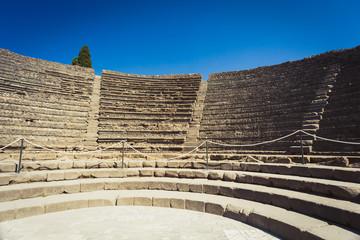 Ruins of amphitheatre in Pompeii
