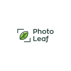 nature leaf photography vector logo design