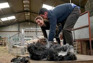 Britain's Prince William and Catherine, Duchess of Cambridge visit Cumbria county