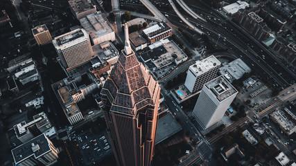 aerial view of city - fototapety na wymiar