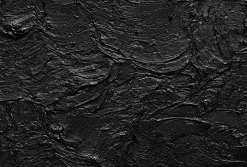 Canvas Prints Texture of black crushed eyeliner or black acrylic paint