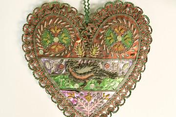 Historisches Nadelkissen in Herzform aus dem Schaumburger Land
