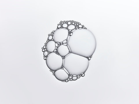 Group of clear bubbles stuck together